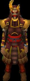 Tetsu armour set equipped (female)