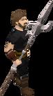 Zamorakian spear equipped old