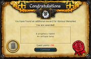 Unfinished astral rune reward
