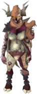 Greater demonflesh armour equipped (female)