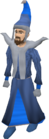 Blue mystic robes equipped old