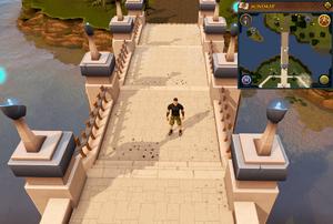 Emote clue Clap Wizard's Tower bridge