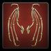 Skeletal wings icon