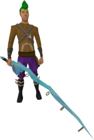 Augmented crystal fishing rod equipped