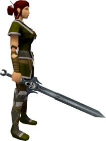 Wilderness sword 2 equipped