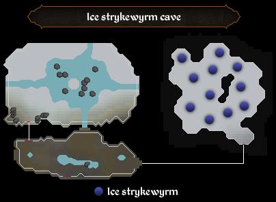 Ice strykewyrm cave map