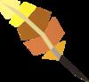 Phoenix quill pen detail