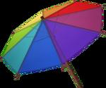 Rainbow parasol detail