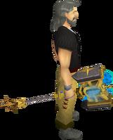 Icyenic greathammer equipped