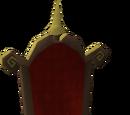Gilded throne