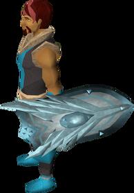 Sir Owen Sonde's shield equipped