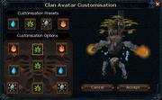 Clan avatar customisations