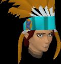 Feather headdress (charged) (orange) chathead