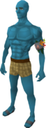 Saradomin blue skin equipped