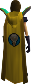 Retro hooded invention cape equipped