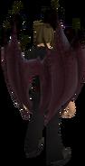 Zamorak wings equipped