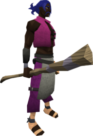 Spinebeam staff equipped