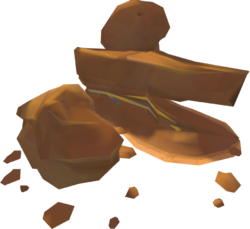 Concentrated sandstone rocks