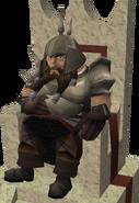 Dwarf Champ on chair