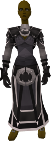 Void Knight equipment set (female) equipped