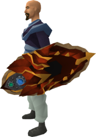 Augmented dragonfire shield equipped