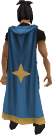 Saradomin cloak (Castle Wars) equipped
