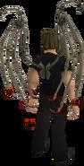 Skeletal wings equipped