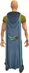 Fishing cape equipped