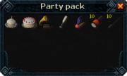 Party Pack Interface
