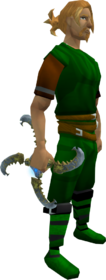 Augmented Shadow glaive equipped