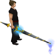 Jousting lance (spear) equipped