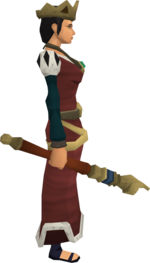 Royal sceptre equipped