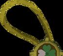 Dazzling three-leaf clover necklace