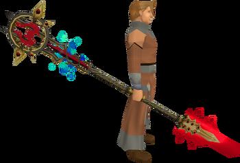 Zamorak Tuska spear equipped