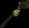 Skeletal mud battlestaff detail