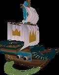 Toy royal battleship detail