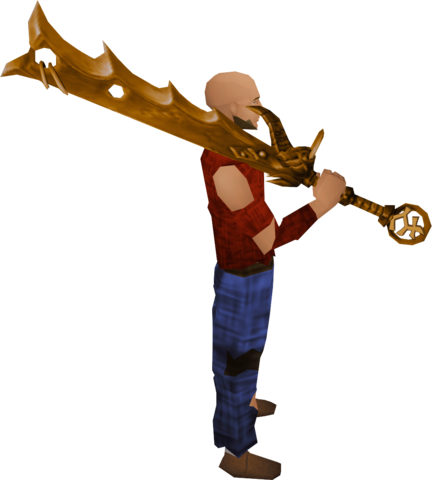 File:Golden Bandos godsword equipped.png
