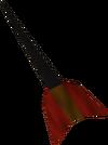Black dart detail