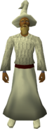 Cream robe set equipped