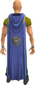 Hooded defence cape equipped