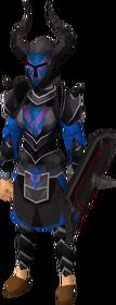 Black heraldic armour set 2 (sk) equipped