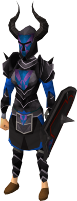 Black heraldic armour set 2 (sk) equipped