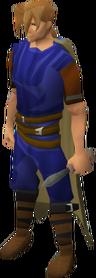 Off-hand dagger (class 1) equipped