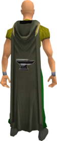 Hooded smithing cape equipped