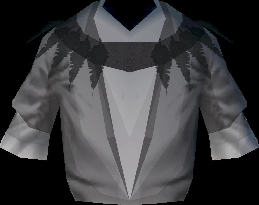 Ghostly druid robe top detail