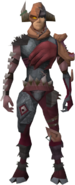 Lesser demonflesh armour equipped (male)