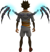 Runic Essence Wings equipped