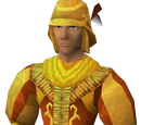 Golden mining suit