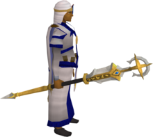 Saradomin crozier equipped