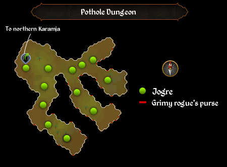 Pothole Dungeon map